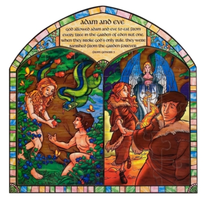 Adam and Eve - 30pc Wooden Jigsaw Puzzle By Melissa and Doug