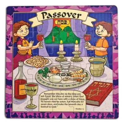 Passover - 30pc Wooden Jigsaw Puzzle By Melissa and Doug