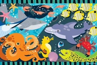 Undersea Jamboree - 24pc Floor Puzzle By Melissa & Doug