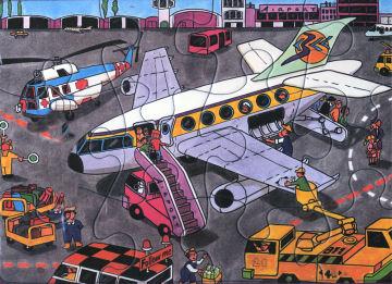 Airport - 12pc Jigsaw Puzzle by Piatnik