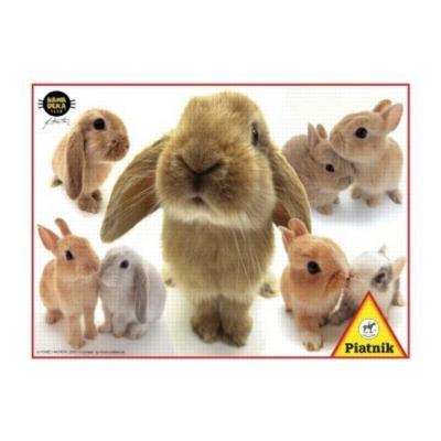 Hanadeka: Rabbits - 100pc Jigsaw Puzzle by Piatnik