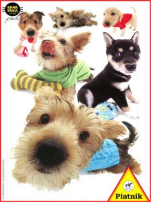 Hanadeka: Puppies - 100pc Jigsaw Puzzle by Piatnik