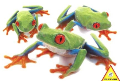 Hanadeka: Frogs - 100pc Jigsaw Puzzle by Piatnik