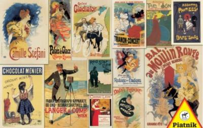 Vintage Posters - 1000pc Jigsaw Puzzle by Piatnik