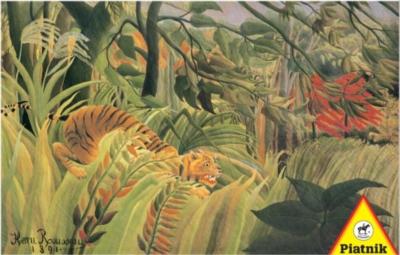 Rousseau Tiger - 1000pc Jigsaw Puzzle by Piatnik
