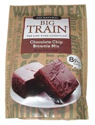 Big Train Low Carb Chocolate Chip Brownie Mix - 11 oz. Bag Case