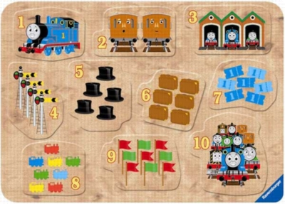 Thomas & Friends: Counting with Thomas - 10pc Wooden Puzzle by Ravensburger