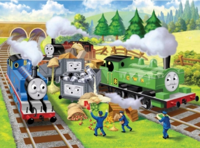 Thomas & Friends: Track Trouble - 24pc Floor Puzzle by Ravensburger