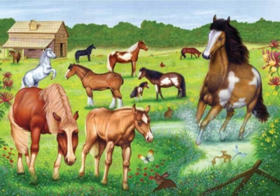 Horses Galore - 24pc Floor Puzzle by Ravensburger