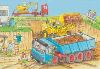 Construction Duty - 24pc Floor Puzzle by Ravensburger