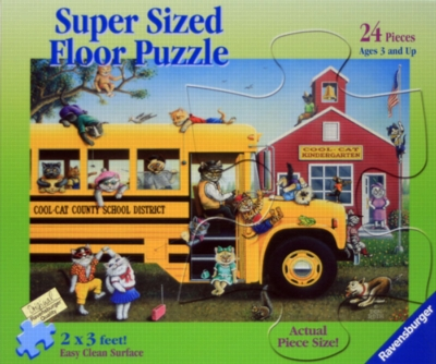 Cool School Cats - 24pc Floor Puzzle by Ravensburger