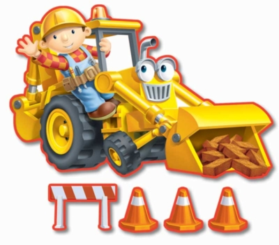 Bob the Builder: Bob & Scoop - 24pc Shaped Floor Puzzle by Ravensburger
