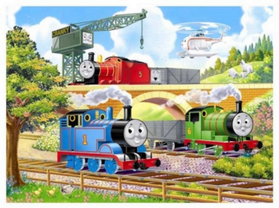 Thomas & Friends: Off to Work - 24pc Floor Puzzle in Shaped Box by Ravensburger