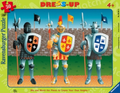 Knights - 30pc Dress-Up Frame Puzzle by Ravensburger