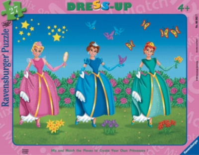 Princesses - 27pc Dress-Up Frame Puzzle by Ravensburger