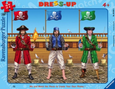 Pirates - 27pc Dress-Up Frame Puzzle by Ravensburger