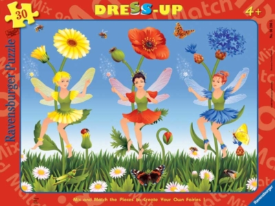 Fairies - 30pc Ravensburger Dress-Up Frame Puzzle by Ravensburger