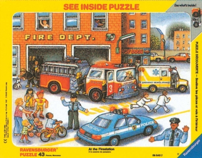 Fire Station - 43pc Frame Puzzle by Ravensburger
