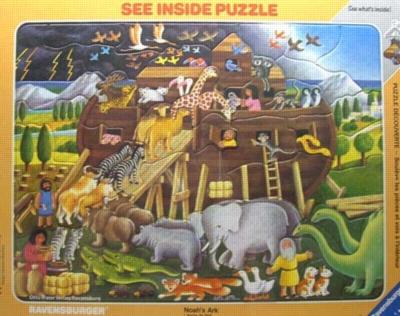 Noah's Ark - 45pc Frame Puzzle by Ravensburger