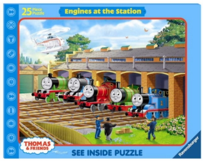 Thomas & Friends: Engines at the Station - 25pc Frame Puzzle by Ravensburger