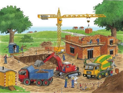 Construction at the Site - 33pc Frame Puzzle by Ravensburger