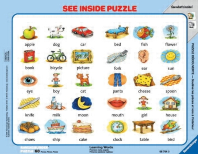 Learning Words - 60pc See Inside Frame Puzzle by Ravensburger