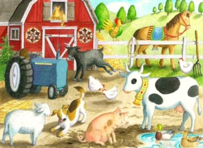Barnyard Friends - 35pc Jigsaw Puzzle by Ravensburger