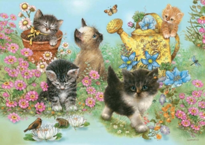 Garden Kitties - 35pc Jigsaw Puzzle by Ravensburger