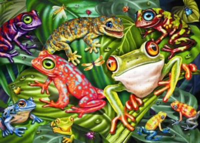 Tropical Frogs - 35pc Jigsaw Puzzle by Ravensburger