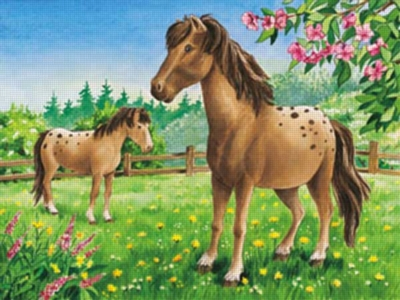 Appaloosa Horses + SCHLEICH Horse - 35pc Jigsaw & Toy by Ravensburger