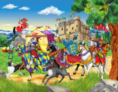 Riding with the King + PAPO King - 35pc Jigsaw & Toy by Ravensburger