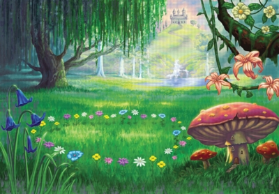 The Fairy Glen - 60pc Static Cling Jigsaw Puzzle by Ravensburger