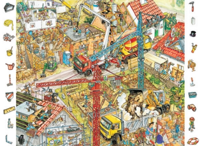 Building Site - 84pc Look and Find Jigsaw Puzzle by Ravensburger