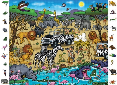 Safari - 84pc Look and Find Jigsaw Puzzle by Ravensburger