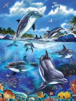Dolphin Family - 100pc Ravensburger Jigsaw Puzzle by Ravensburger