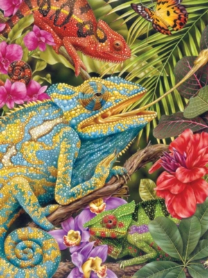 Tropical Lizards - 100pc Jigsaw Puzzle by Ravensburger