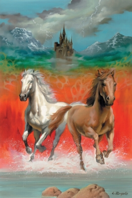 Dashing Horses - 100pc Jigsaw Puzzle by Ravensburger
