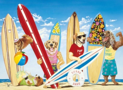 Surf Dawgs - 100pc Jigsaw Puzzle by Ravensburger