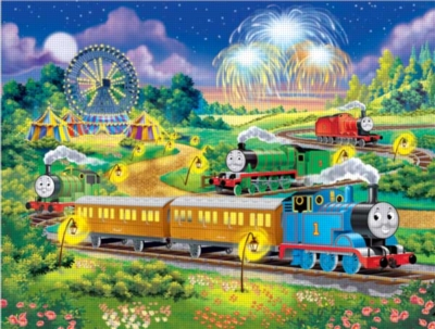 Thomas & Friends: Thomas at the Carnival - 100pc Glow in the Dark Jigsaw Puzzle by Ravensburger
