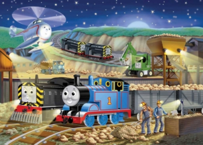 Thomas & Friends: Night Work - 100pc Glow in the Dark Jigsaw Puzzle by Ravensburger
