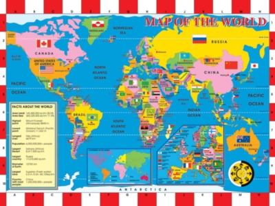World Map - 200pc Jigsaw Puzzle by Ravensburger