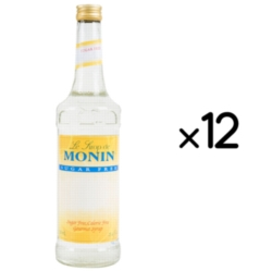 Monin Sugar Free Flavored Syrup - 750 ml. Glass Bottle Case