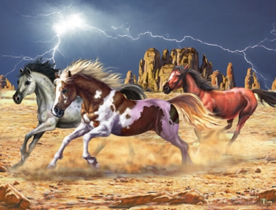 Thunder Horses - 200pc Jigsaw Puzzle by Ravensburger