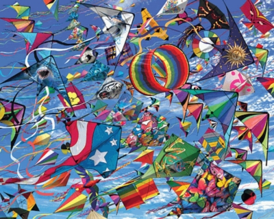 Go Fly a Kite - 380pc Family Style Jigsaw Puzzle by Ravensburger