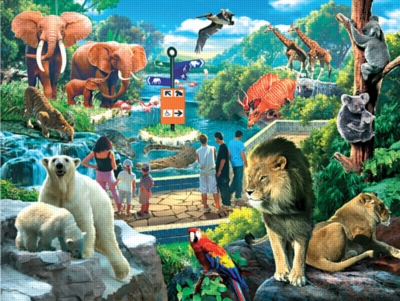 Wild Animal Park - 380pc Jigsaw Puzzle by Ravensburger
