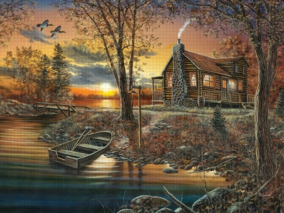 A Cabin Memory - 300pc Large Format Jigsaw Puzzle by Ravensburger