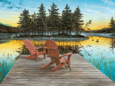 Lake Chairs - 300pc Large Format Jigsaw Puzzle by Ravensburger