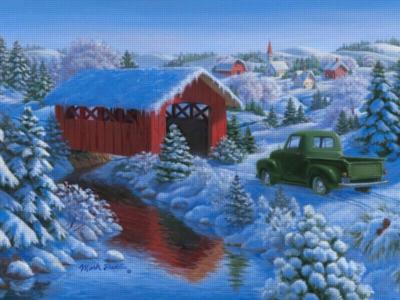 Snowy Bridge - 300pc Large Format Jigsaw Puzzle by Ravensburger