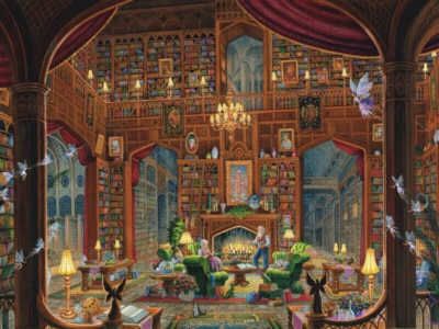 Sanctuary of Knowledge - 300pc Large Format Jigsaw Puzzle by Ravensburger