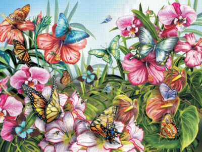 Butterfly Garden - 300pc Large Format Jigsaw Puzzle by Ravensburger
